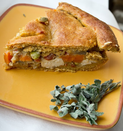 Rustic Greenmarket Veggie Tofu Pot Pie. Vegan.