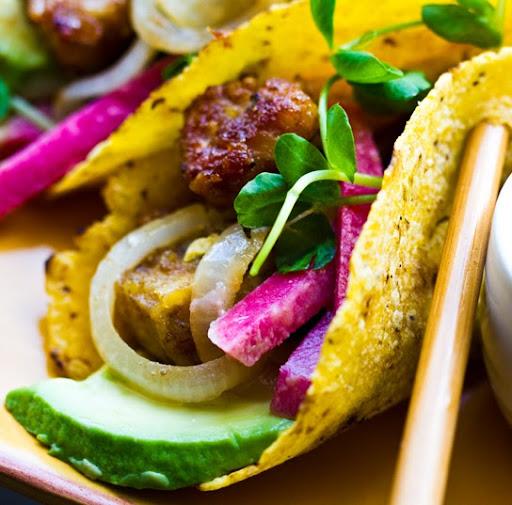 Tempeh Taco Night! with Pickled Radish Slaw.