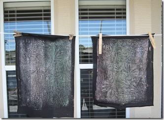 two mono prints
