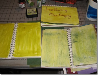 Painted journal pages