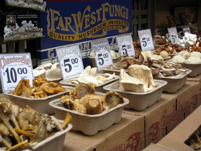 Mushrooms at Far West Fungi in the Ferry Building in San Francisco California