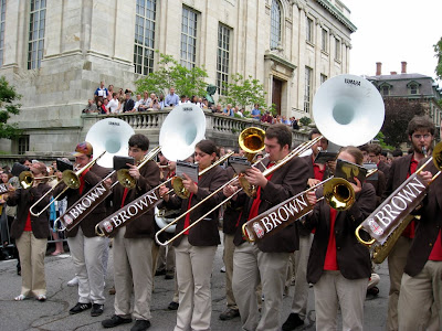 Brown University band playing at reunion weekend