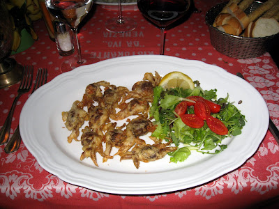 Soft shell crabs at Ristorante Ivo in Venice