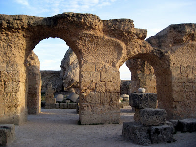 Roman ruins in Carthage, Tunisia