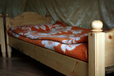 Bed in a ger in Mongolia