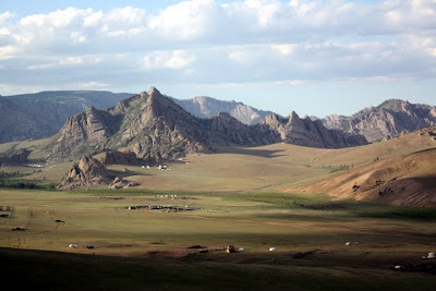 Mountains in Terelj National Park in Mongolia