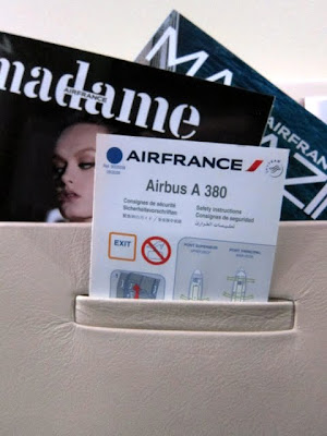 Air France A380 guide in the business class cabin