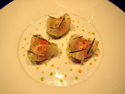 Starters at La Table de Joel Robuchon in Paris France