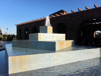 Fountain at a Paso Robles winery wedding