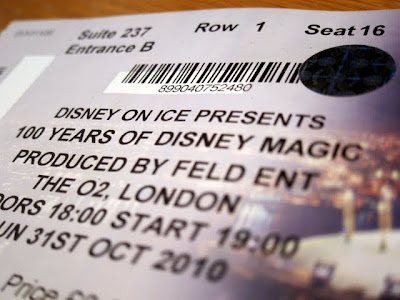 Ticket for Disney on Ice in London
