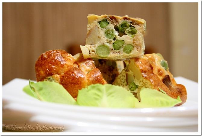 Hiszpańska tortilla z zielonym groszkiem