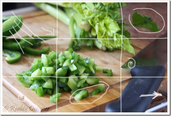 green pepper and celery soup