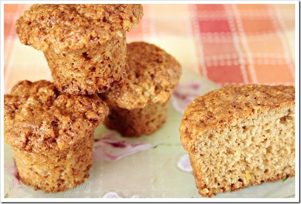 muffinki owsiane korzenne, świąteczne