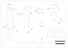 Third Year Mechanical Engineering AutoCAD drawing - Screw Jack Details