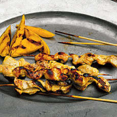 Chicken Skewers with Grilled Mango