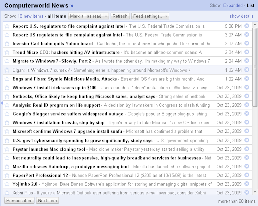 Google Reader sort by newest