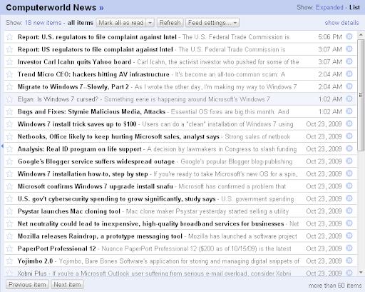 Google Reader sort by newest
