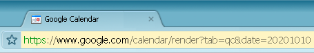 Google Calendar jump to a date with URL