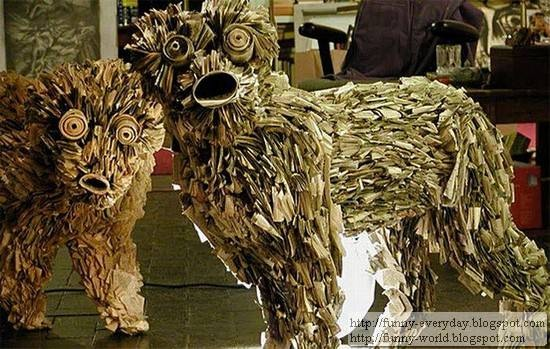 Sculptures made from Newspapers by Nick Geogiou (4)