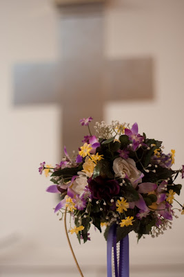 Flowers at the church