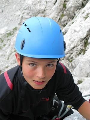 Josef im Klettersteig