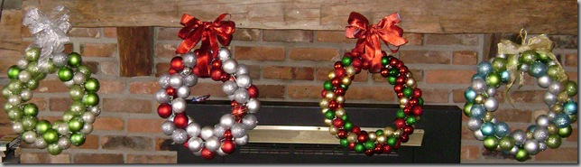 4 ornament wreaths