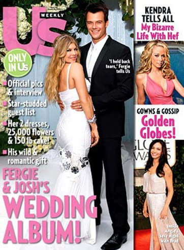 Fergie and Josh Duhamel Wedding Photo