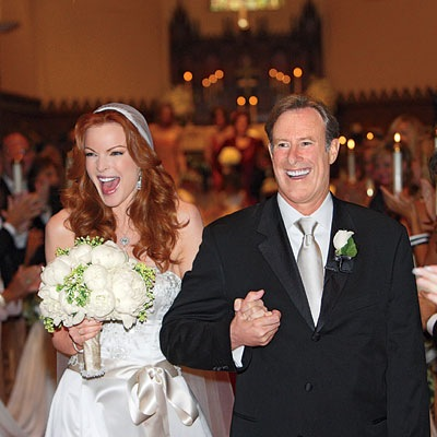 Marcia Cross Tom Mahoney wedding photo
