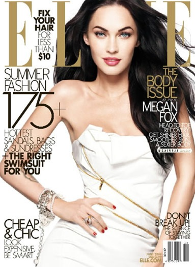 Megan Fox ELLE June 2009 cover photo