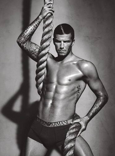David Beckham Newest Emporio Armani Underwear 2009 2010 Ad Photo