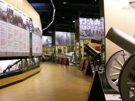 plethora artifacts guns artillery uniforms war tower view city museum