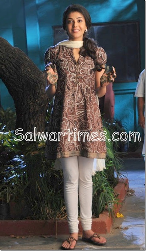 Kajal Agarwal in Printed Salwar Kameez | salwartimes.com-Your Daily Dose of Salwar Fashion