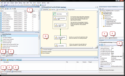 SSIS Window Layout
