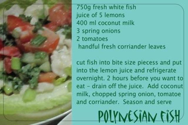 recipe polynesian fish