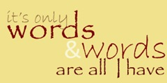 words tile yellow back