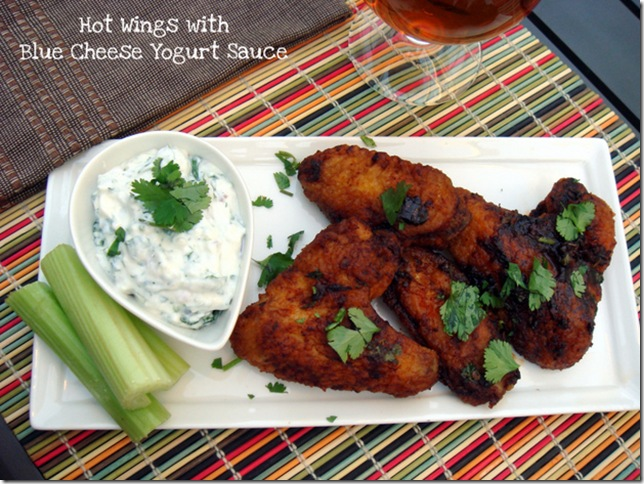 Hot Wings with Blue Cheese Yogurt Sauce2