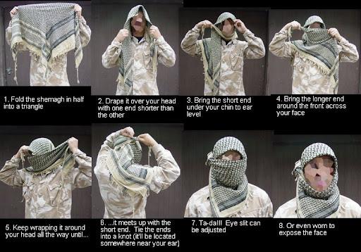 Jak zawiązać arafatkę?