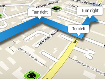 Nokia has made navigation on the smart phones