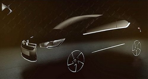 Citroen has shown a silhouette of crossover DS4