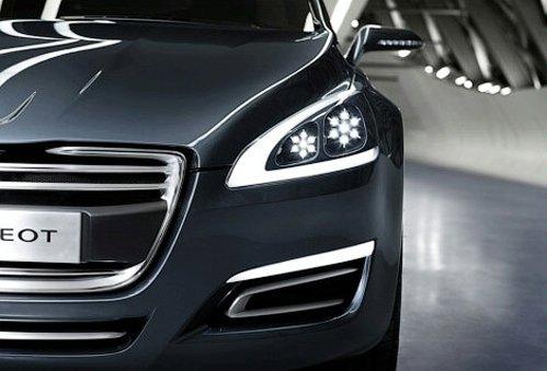 Company Peugeot has shown a prototype of a new big sedan