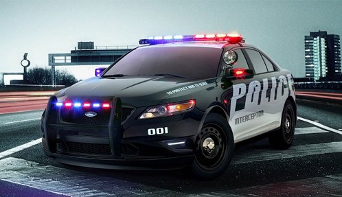 Police car Ford Taurus