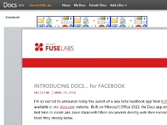 Microsoft has presented Docs for Facebook