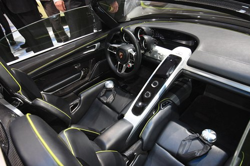 Interior of Porsche Spyder