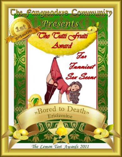 The Tutti Fruiti Award 1st Place