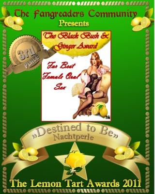 The Black Bush & Ginger Award 3rd Place