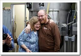 "image of ""Beer Godess"" Lisa Morrison and Oakshire Brewing Co-Founder Jeff Althouse courtesy of Portlandbeer.org's Flickr page"