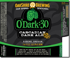 image of Oakshire Brewing's label courtesy of Oakshire Brewing's website