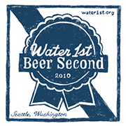 image of Water 1st Beer 2nd's logo courtesy of their website