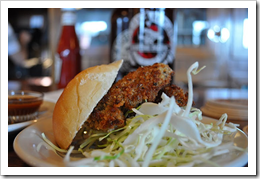 image of Maritime Pacific's Jolly Roger Taproom's Oyster Po Boy slider courtesy of our Picasa page