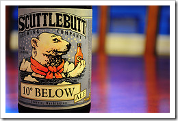 image of Scuttlebutt's 10 Below Ale courtesy of our Flickr page